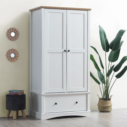 Carden White 2 Door Wardrobe